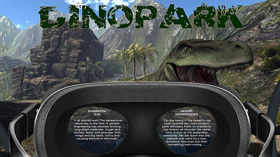 VR Ride movie: Dinopark.