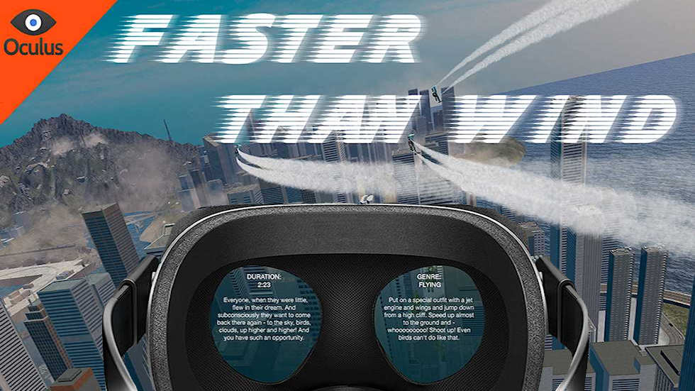 VR Ride movie: Faster than wind.
