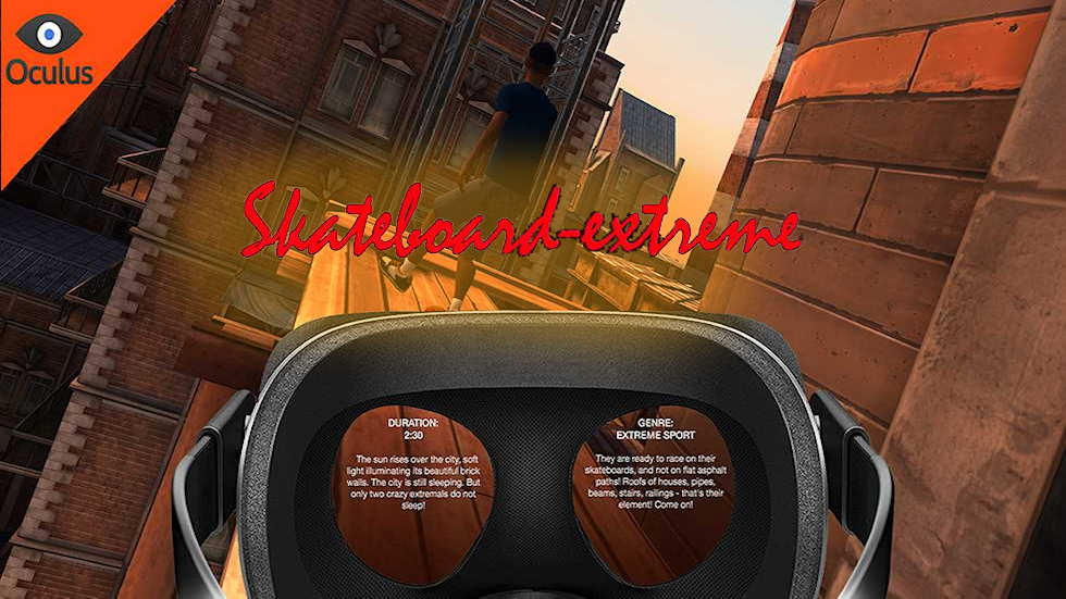 VR Ride movie: Skateboard